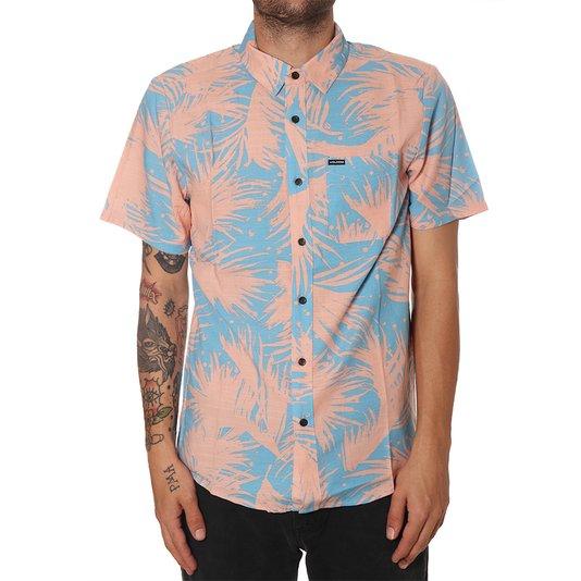 Camisa Volcom Palmas Rosa/Azul