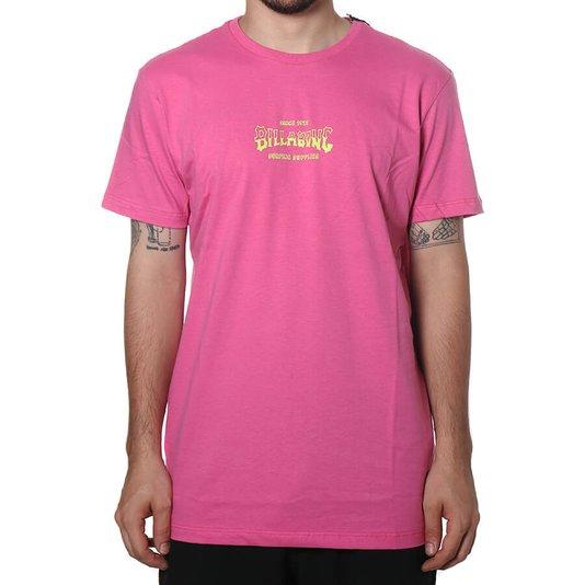 Camiseta Billabong Supply Wave Off Rosa