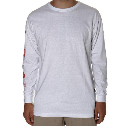 Camiseta Blaze Supplu Manga Longa Oval Box Branco