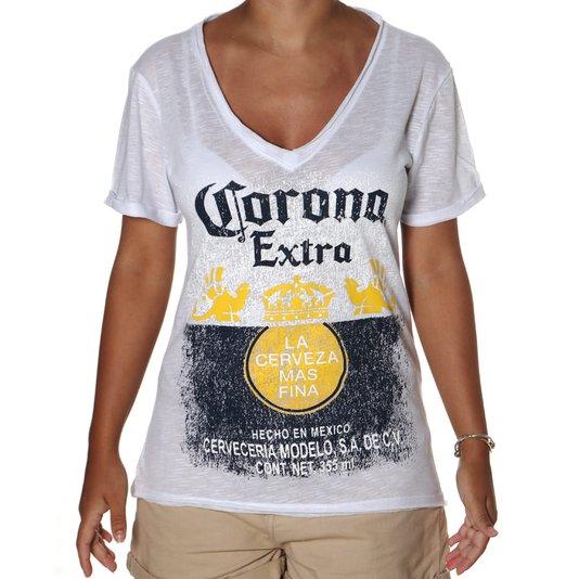 Camiseta Corona Extra Loose Feminina Branco