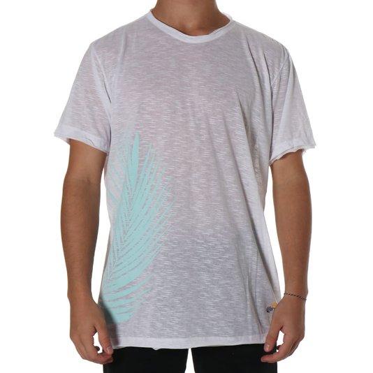 Camiseta Corona Extra Loose Folhas Branco