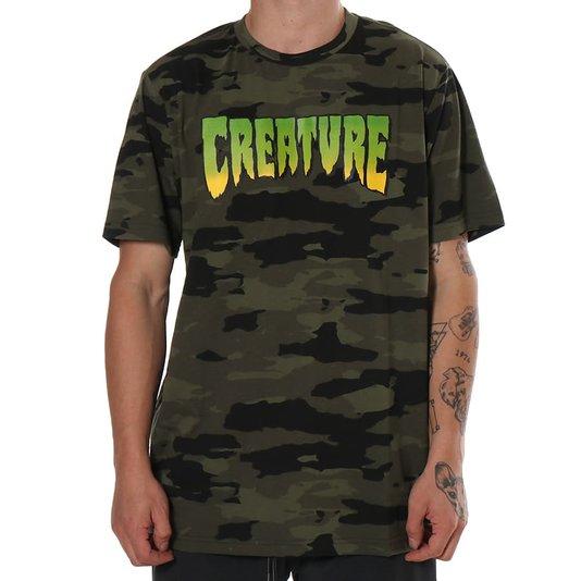 Camiseta Creature Logo Camuflado