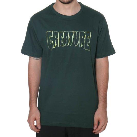 Camiseta Creature Psych Outline Verde Musgo