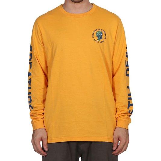 Camiseta Creature Return Of The Fiend M/L Amarelo