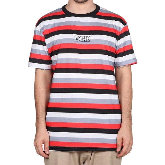 Camiseta Dgk Clutch Preto/Vermelho/Cinza