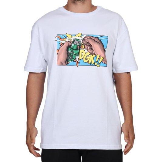 Camiseta Dgk Pull The Pin Branco
