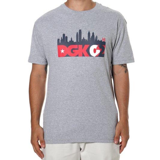 Camiseta Dgk Skyline Tee Cinza Mescla