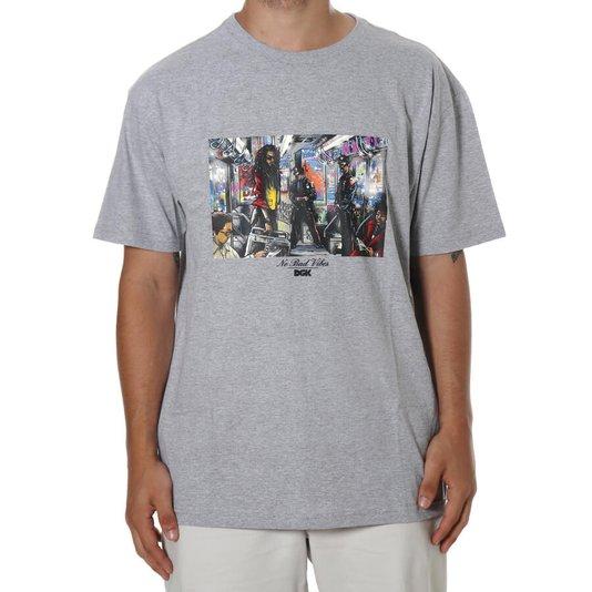 Camiseta Dgk Trenchtown Cinza Mescla