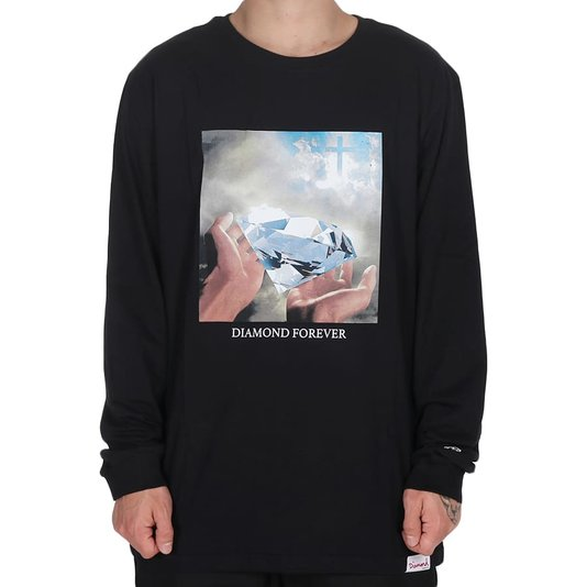 Camiseta Diamond Forever M/L Preto