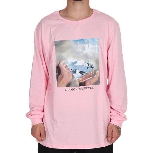 Camiseta Diamond Forever M/L Rosa