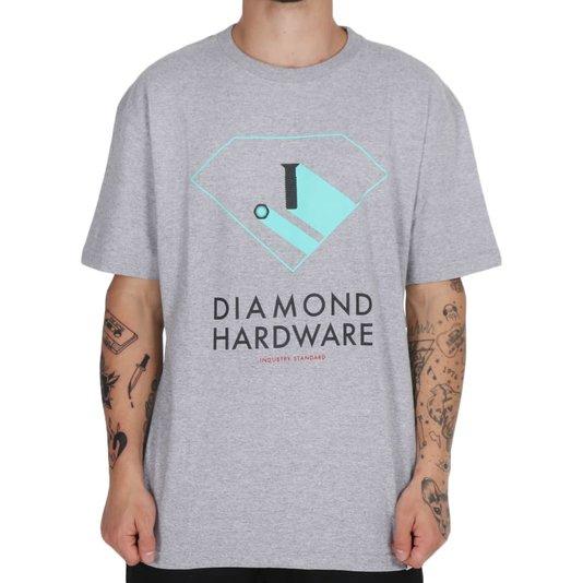 Camiseta Diamond Industry Standard Cinza Mescla