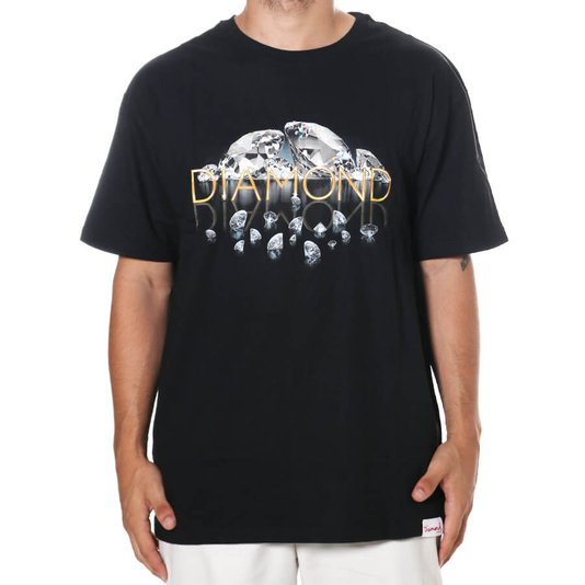 Camiseta Diamond Mirrored Tee Preto
