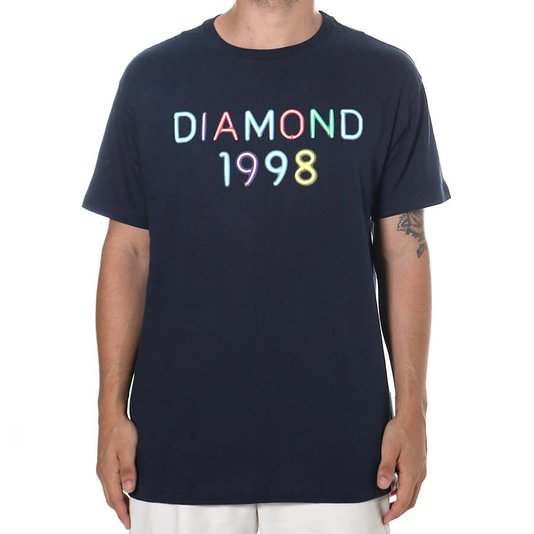 Camiseta Diamond Radiant Neon Azul Marinho