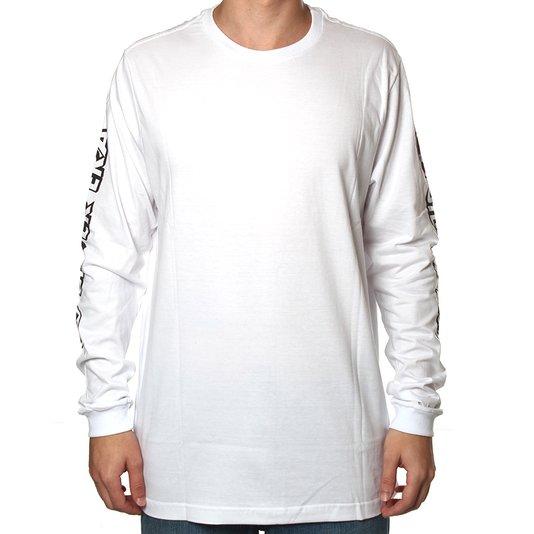 Camiseta Drop Dead Manga Longa Silver Era Branco