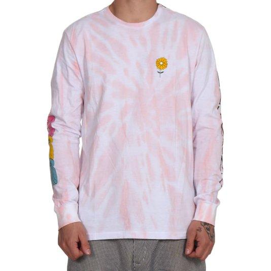 Camiseta Element M/L Rise Tie Dye Rosa