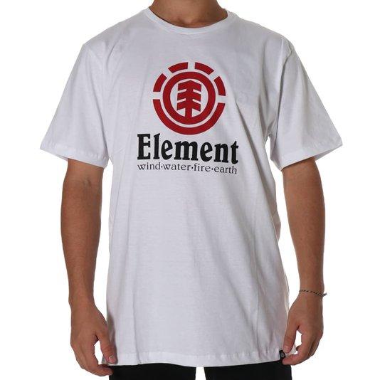 Camiseta Element Vertical Logo Branco