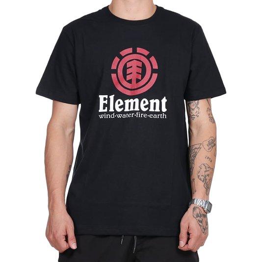 Camiseta Element Vertical Logo Preto