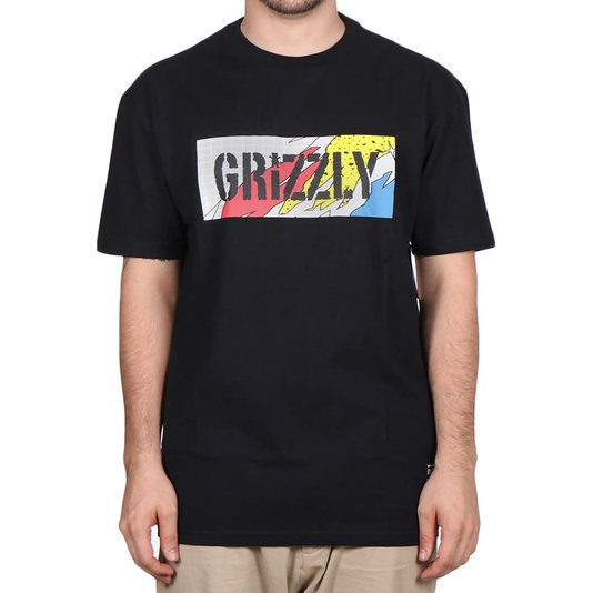 Camiseta Grizzly All That Stamp Logo Preto