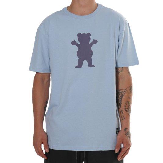 Camiseta Grizzly Og Bear Azul/Roxo