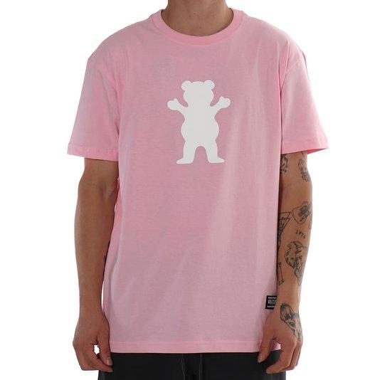 Camiseta Grizzly Og Bear Rosa Claro