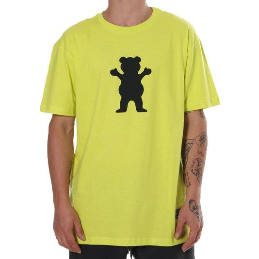 Camiseta Grizzly Og Bear Verde Limão
