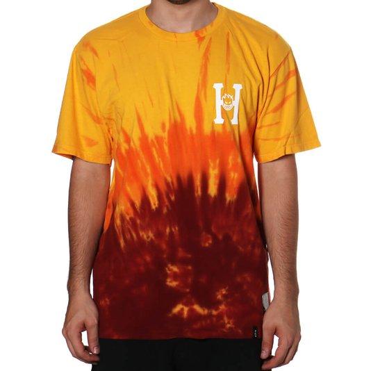 Camiseta Huf Classic  Amarelo/Vermelho