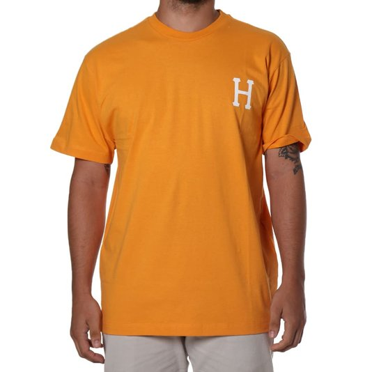Camiseta Huf Essentials Classic H Laranja
