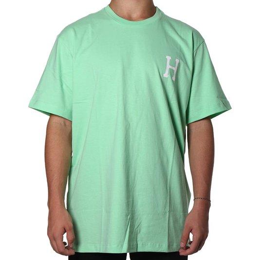 Camiseta Huf Essentials Classic H Verde Claro