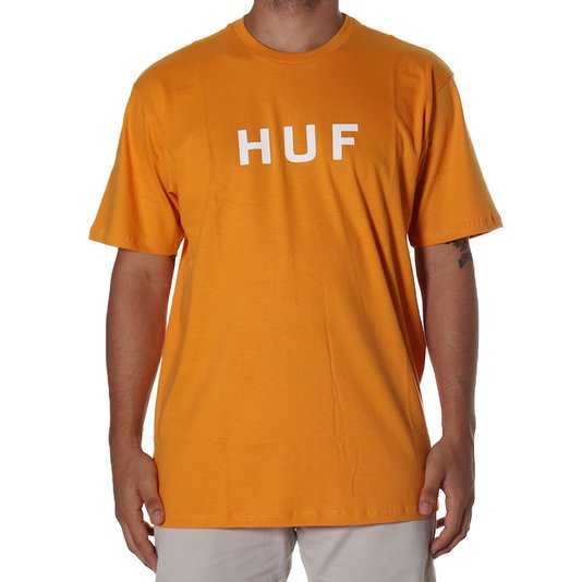 Camiseta Huf Essentials Og Logo Laranja