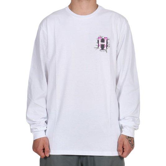 Camiseta Huf Giga Melted M/L Branco