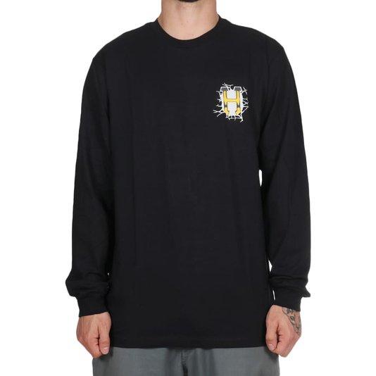 Camiseta Huf Giga Melted M/L Preto