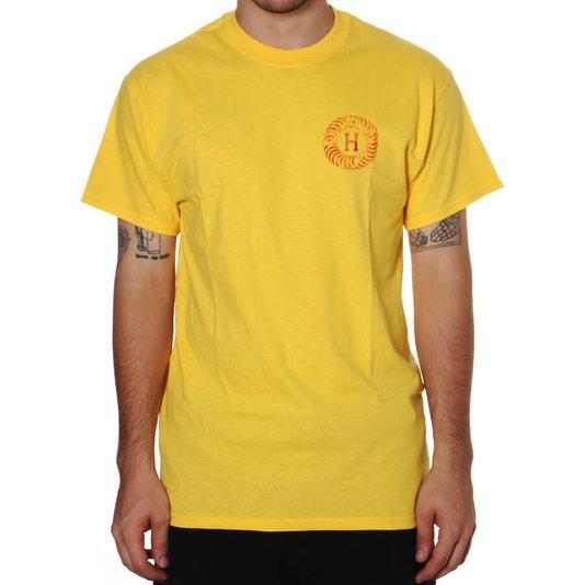 Camiseta Huf Spitire Fire Swirl Amarelo