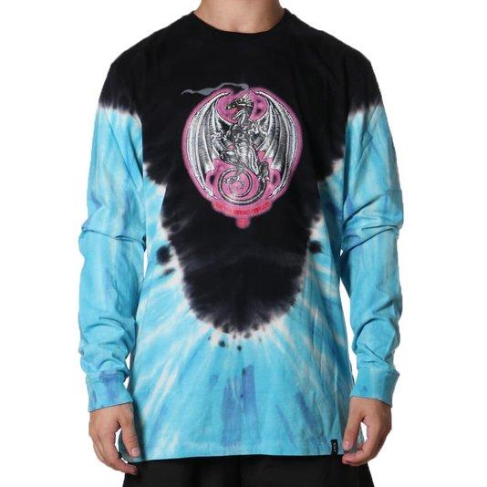 Camiseta Huf The Magic Dragon Ml Preto/Azul
