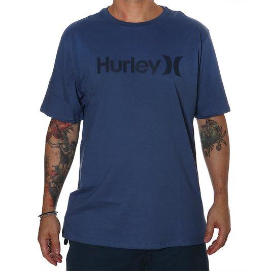 Camiseta Hurley Logo O & O Oversize Azul