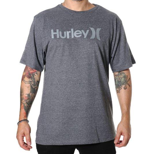 Camiseta Hurley Oversize O&O Solid Cinza Mescla Escuro