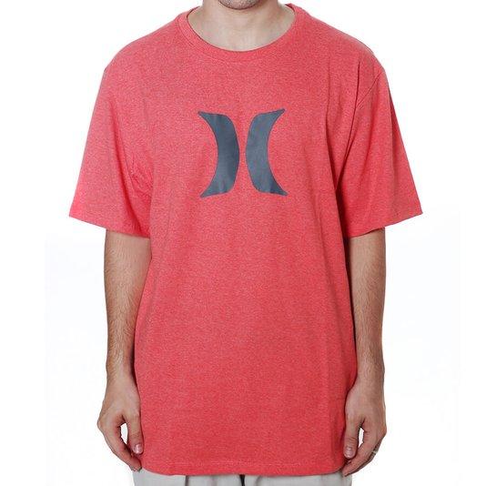 Camiseta Hurley Silk Icon Oversize Coral