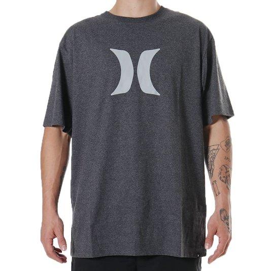 Camiseta Hurley Silk Oversize Icon Mescla Escuro