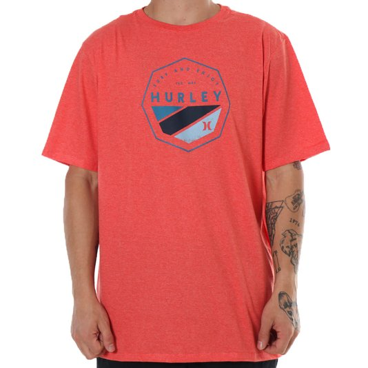 Camiseta Hurley Surf And Enjoy Coral