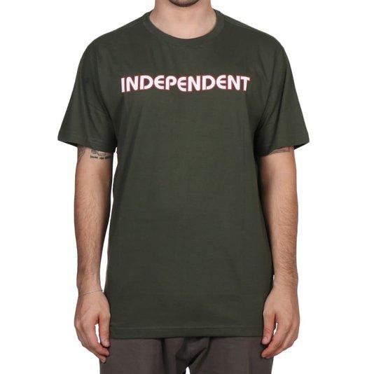 Camiseta Independent Bar Logo Letter Verde Militar