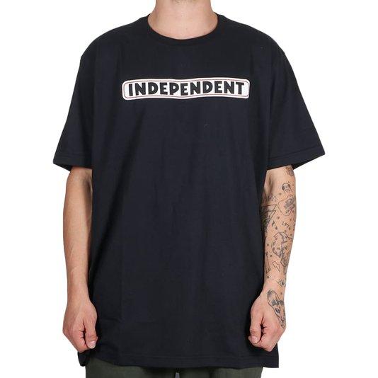 Camiseta Independent Big Bar Logo 3 Colors Preto