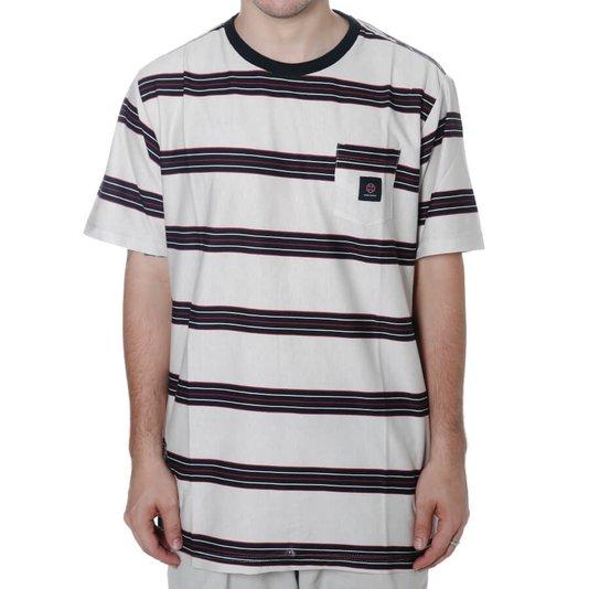Camiseta Independent Hachure Pocket Off White