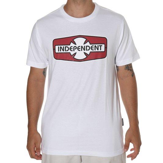 Camiseta independent o.g.b.c. Rigid branco/vermelho