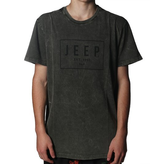 Camiseta Jeep Premium Box Verde Escuro Mescla