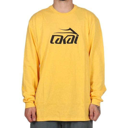 Camiseta Lakai Basic M/L Amarelo