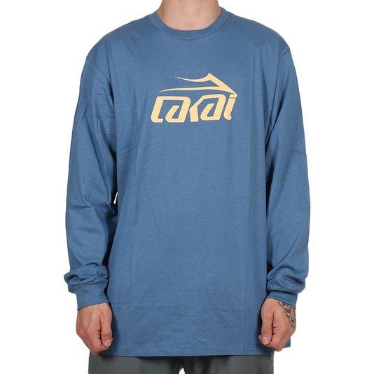 Camiseta Lakai Basic M/L Azul