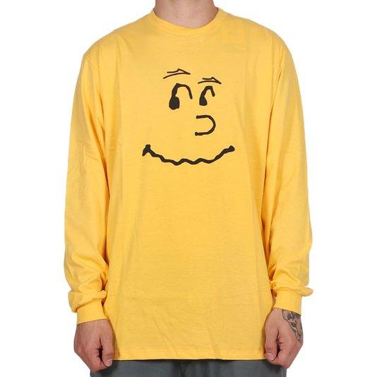 Camiseta Lakai Blockhead M/L Amarelo