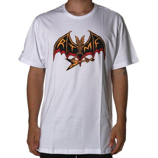 Camiseta Layback Morcego Rock'n'Roll Branco
