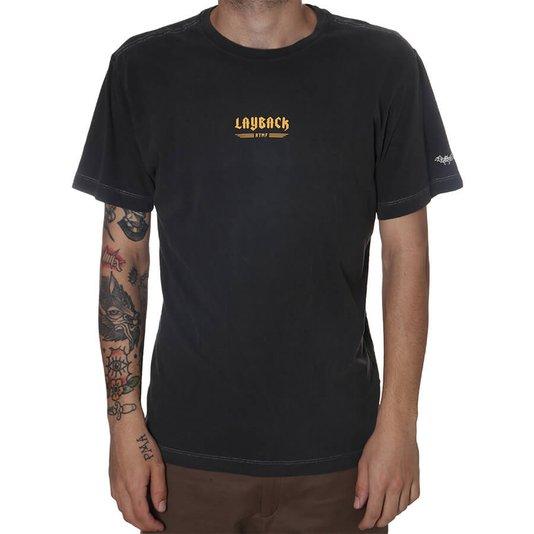 Camiseta LayBack Tubarão Cinza Escuro