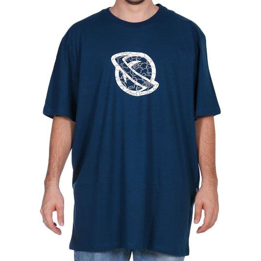 Camiseta Lost Cammo Sheep Oversized Azul Marinho