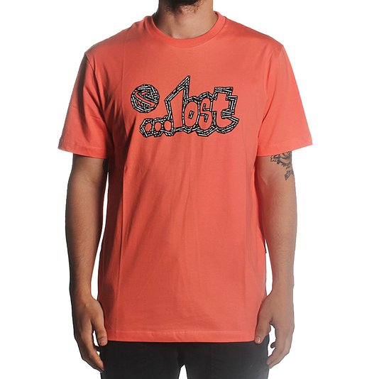 Camiseta Lost Embossed Tape Laranja